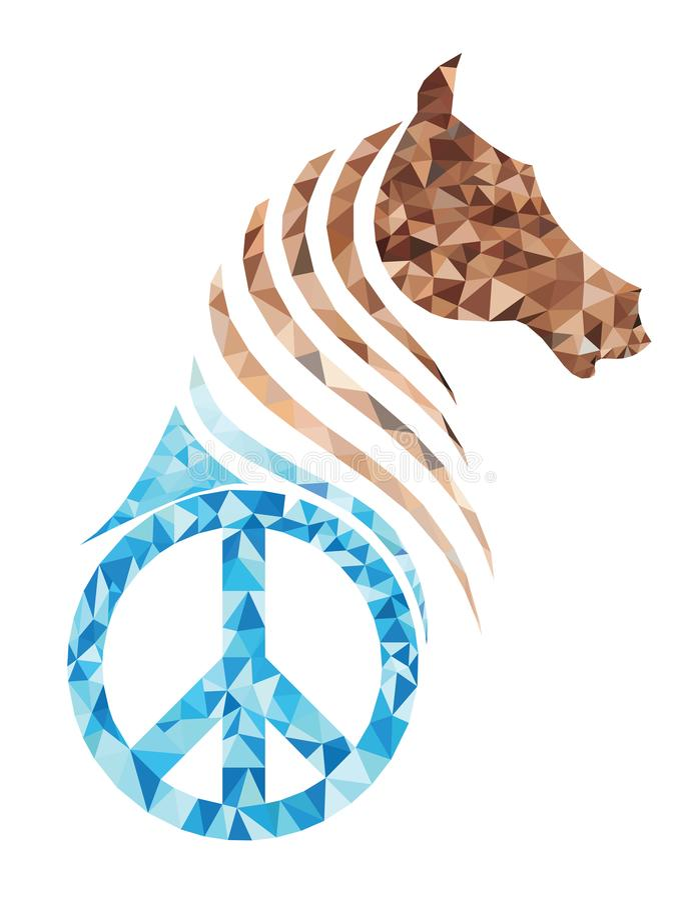 Άλογο πολυγώνων και σύμβολο κομματιού ελεύθερη απεικόνιση δικαιώματος