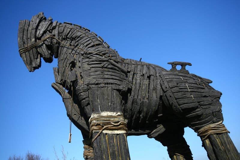 άλογο τρωικό στοκ εικόνες
