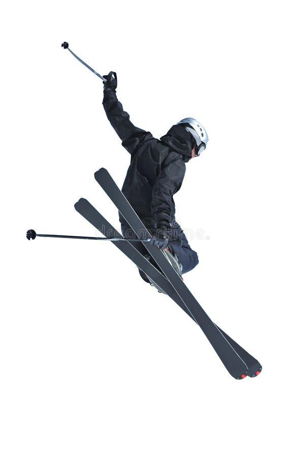 Άλτης σκι στο Μαύρο στοκ φωτογραφίες με δικαίωμα ελεύθερης χρήσης
