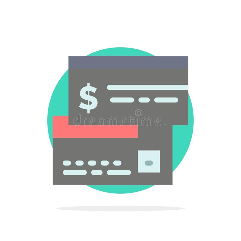 Άμεση πληρωμή, κάρτα, πίστωση, χρέωση, άμεσο αφηρημένο κύκλων εικονίδιο χρώματος υποβάθρου επίπεδο ελεύθερη απεικόνιση δικαιώματος