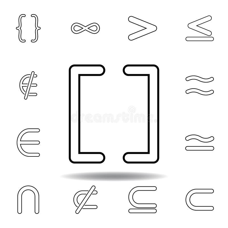 άμεσο εικονίδιο υποστηριγμάτων σημαδιών Λεπτά εικονίδια γραμμών που τίθενται για το σχέδιο ιστοχώρου και την ανάπτυξη, app ανάπτυ ελεύθερη απεικόνιση δικαιώματος