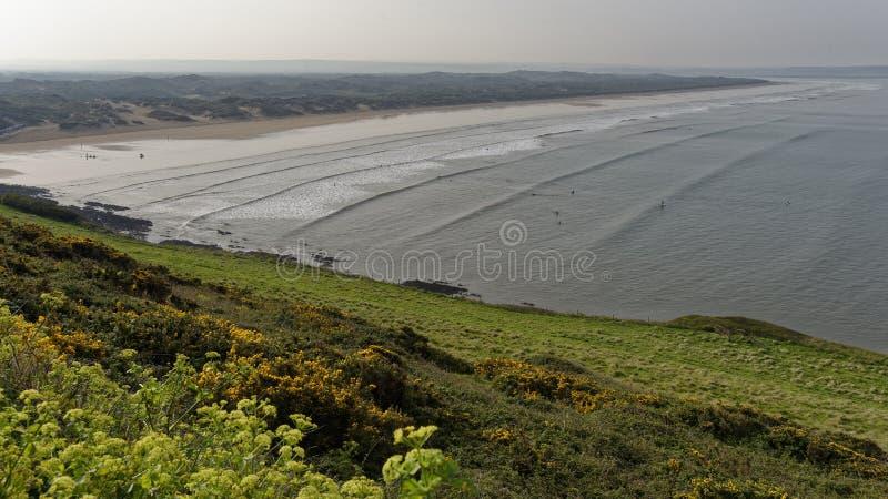 Άμμοι Saunton στοκ εικόνες