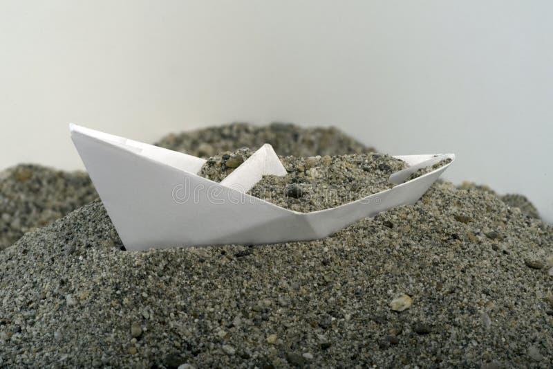 άμμος εγγράφου βαρκών στοκ εικόνες με δικαίωμα ελεύθερης χρήσης