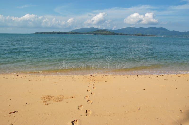 άμμος ιχνών στοκ εικόνες