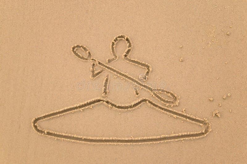 άμμος καγιάκ σχεδίων στοκ εικόνα με δικαίωμα ελεύθερης χρήσης