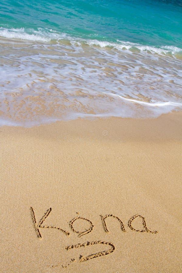 Άμμος και νερό Kona στοκ φωτογραφίες με δικαίωμα ελεύθερης χρήσης