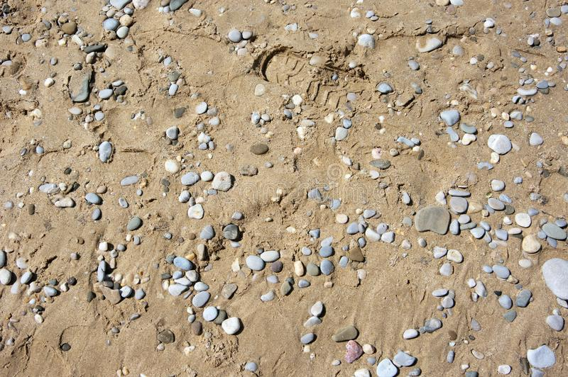 Άμμος και σύσταση χαλικιών στοκ εικόνες