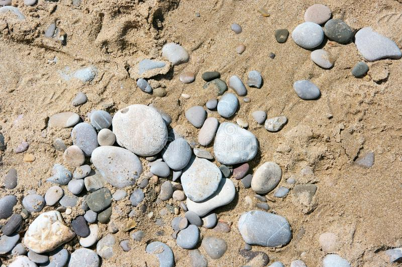 Άμμος και σύσταση χαλικιών στοκ φωτογραφία