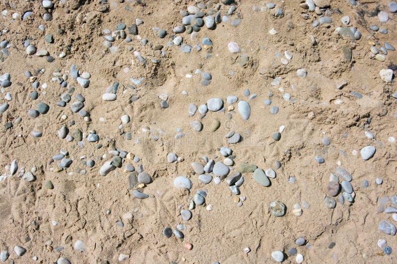 Άμμος και σύσταση χαλικιών στοκ φωτογραφία με δικαίωμα ελεύθερης χρήσης