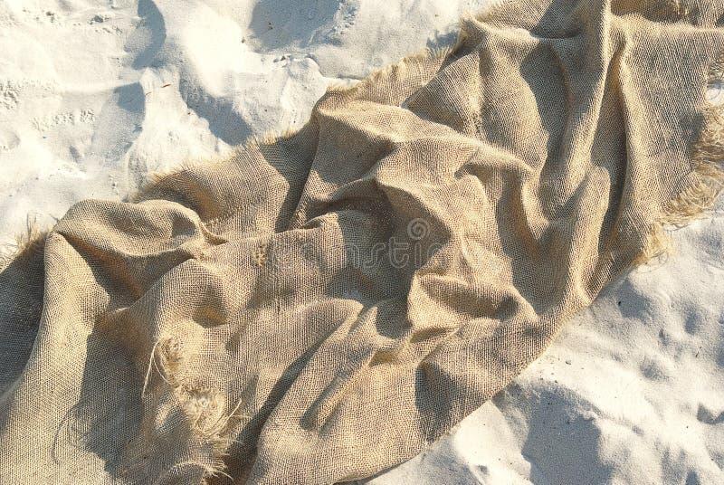 άμμος καμβά στοκ φωτογραφία