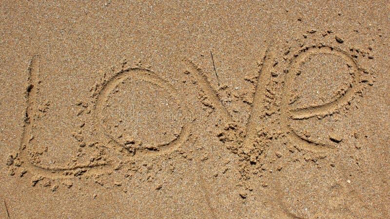 άμμος μηνυμάτων αγάπης γραπ&ta στοκ εικόνες με δικαίωμα ελεύθερης χρήσης