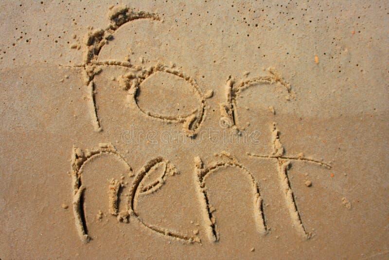 άμμος μισθώματος στοκ εικόνες με δικαίωμα ελεύθερης χρήσης