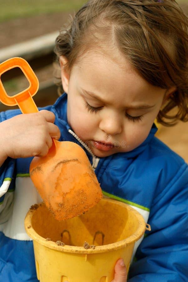 άμμος παιδικών χαρών διασκέ& στοκ εικόνα με δικαίωμα ελεύθερης χρήσης