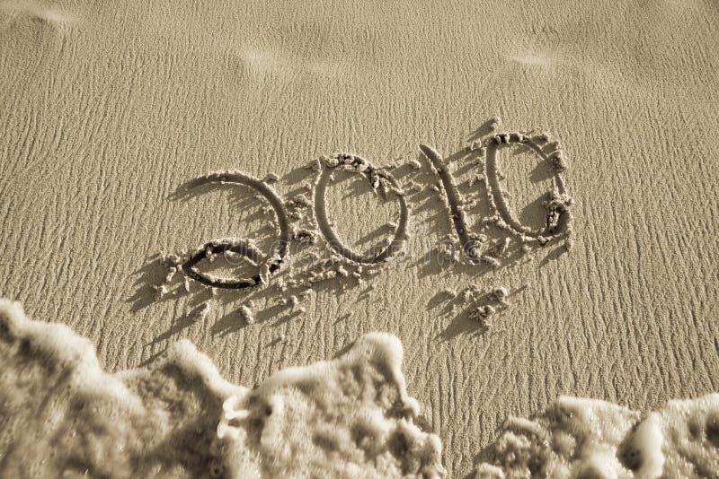 άμμος παραλιών του 2010 γραπτή στοκ εικόνα με δικαίωμα ελεύθερης χρήσης
