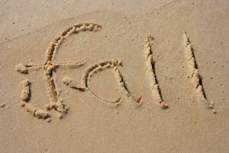 άμμος πτώσης στοκ φωτογραφίες με δικαίωμα ελεύθερης χρήσης