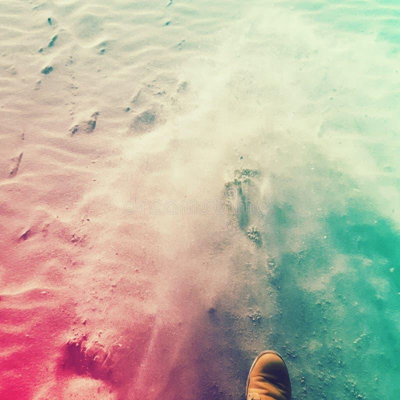 Άμμος στα πόδια μου στοκ φωτογραφία