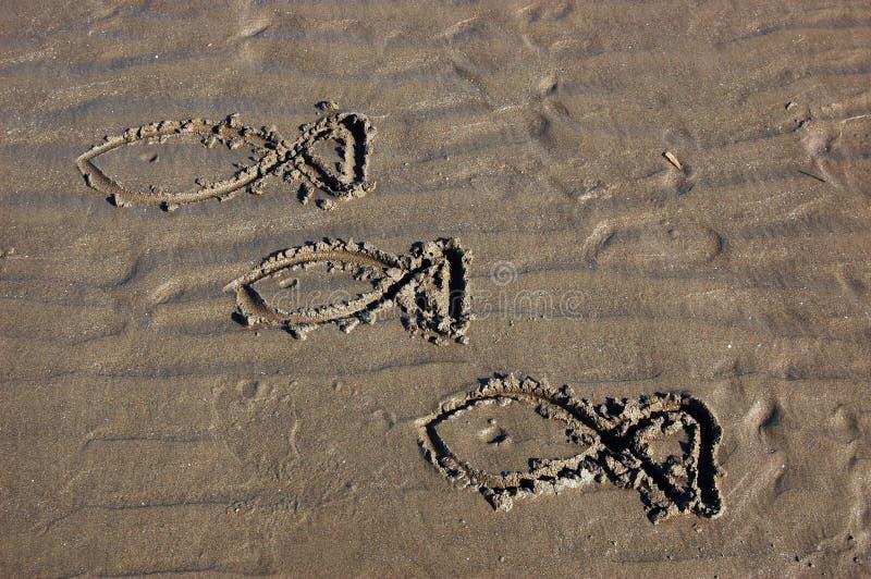 άμμος σχεδίων στοκ εικόνες