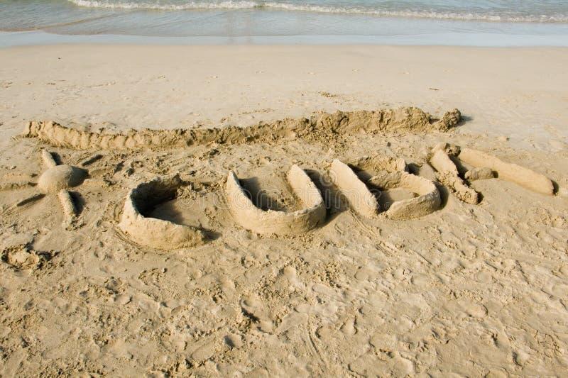 άμμος της Κούβας στοκ φωτογραφία