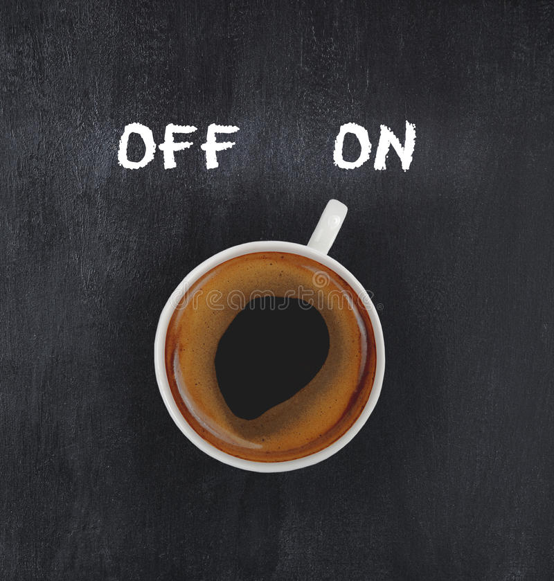 Άναμμα καφέ στοκ εικόνα