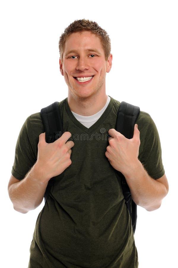 Άνδρας σπουδαστής με Backpack στοκ εικόνες