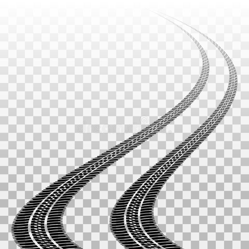 Άνεμος διαδρομές ροδών σε διαφανή ελεύθερη απεικόνιση δικαιώματος