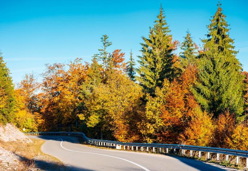 Άνεμος δρόμος βουνών στο δάσος φθινοπώρου στοκ φωτογραφία με δικαίωμα ελεύθερης χρήσης