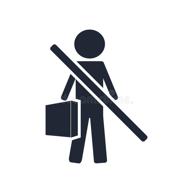 Άνεργα διανυσματικά σημάδι και σύμβολο εικονιδίων που απομονώνονται στο άσπρο backgro απεικόνιση αποθεμάτων