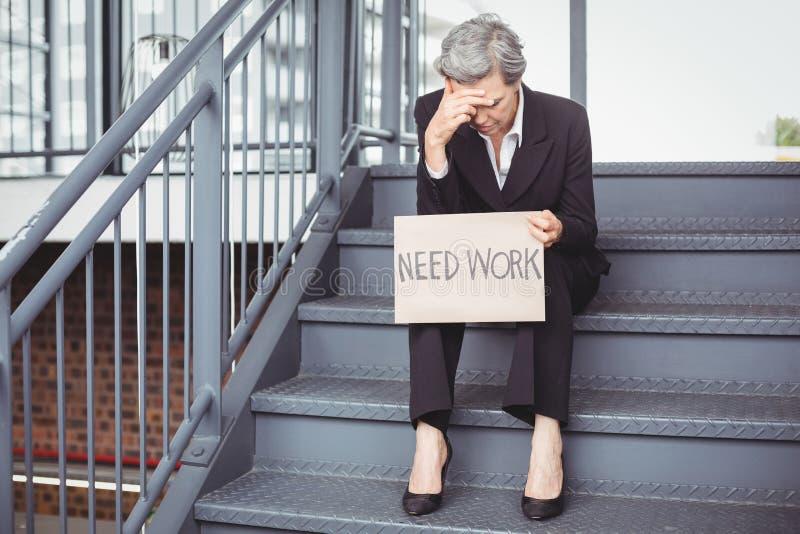 Άνεργη αφίσσα εργασίας ανάγκης εκμετάλλευσης επιχειρηματιών στοκ εικόνες