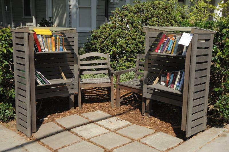 Άνετη βιβλιοθήκη γωνιών στοκ φωτογραφία