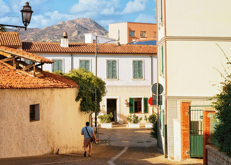 Άνετη οδός σε Olbia Σαρδηνία στοκ εικόνα με δικαίωμα ελεύθερης χρήσης