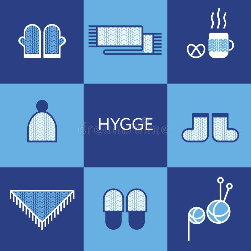 Άνετος πλεκτός ιματισμός Έννοια Hygge ελεύθερη απεικόνιση δικαιώματος