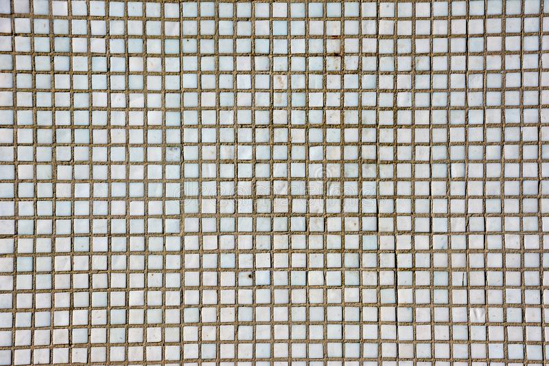 Άνευ ραφής άσπρη τετραγωνική σύσταση κεραμιδιών Άσπρο μωσαϊκό στοκ εικόνα