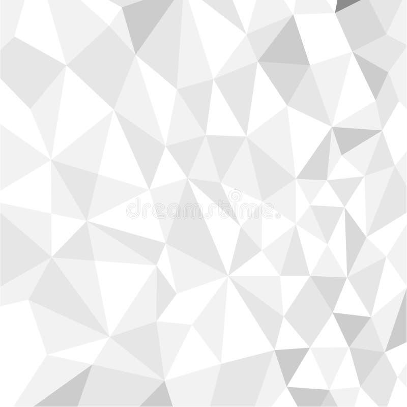 Άνευ ραφής άσπρο πολύγωνο διανυσματική απεικόνιση