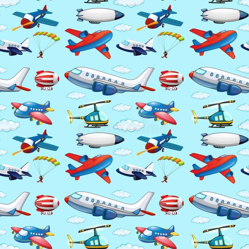 Άνευ ραφής αεροσκάφη ελεύθερη απεικόνιση δικαιώματος