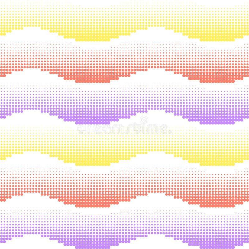 Άνευ ραφής ανασκόπηση Εξασθενίστε το σχέδιο κλίσης Διανυσματικό άνευ ραφής υπόβαθρο κλίσης με τα ημίτοά χρωματισμένα κύματα κλίση ελεύθερη απεικόνιση δικαιώματος