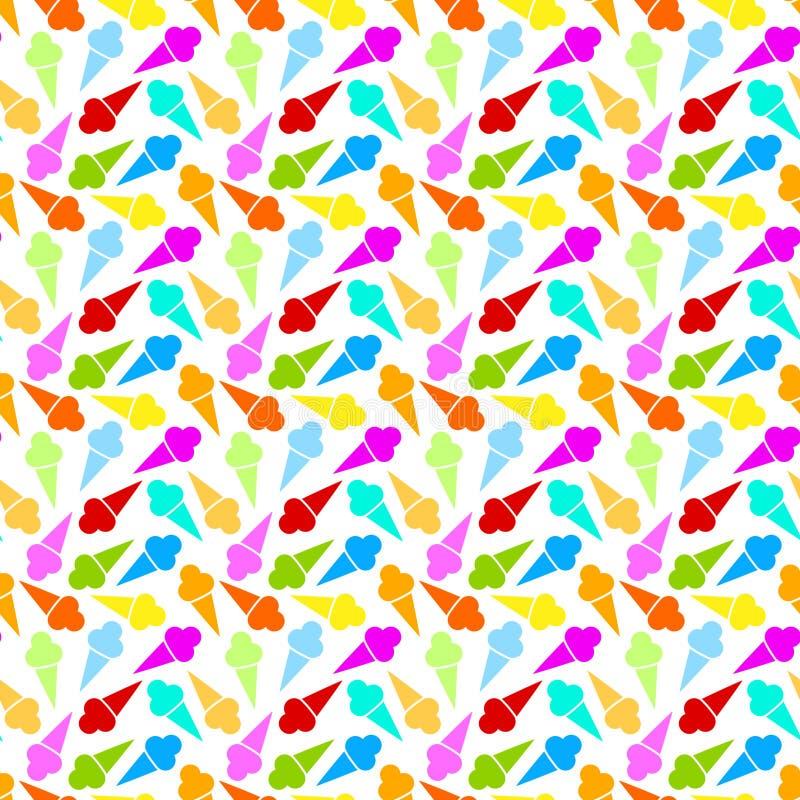Άνευ ραφής ανασκόπηση κώνων παγωτού διανυσματική απεικόνιση
