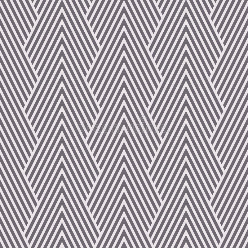 Άνευ ραφής αντίστροφο γραπτό τέχνης διάνυσμα σχεδίων βουνών σιριτιών deco οπτικό απεικόνιση αποθεμάτων