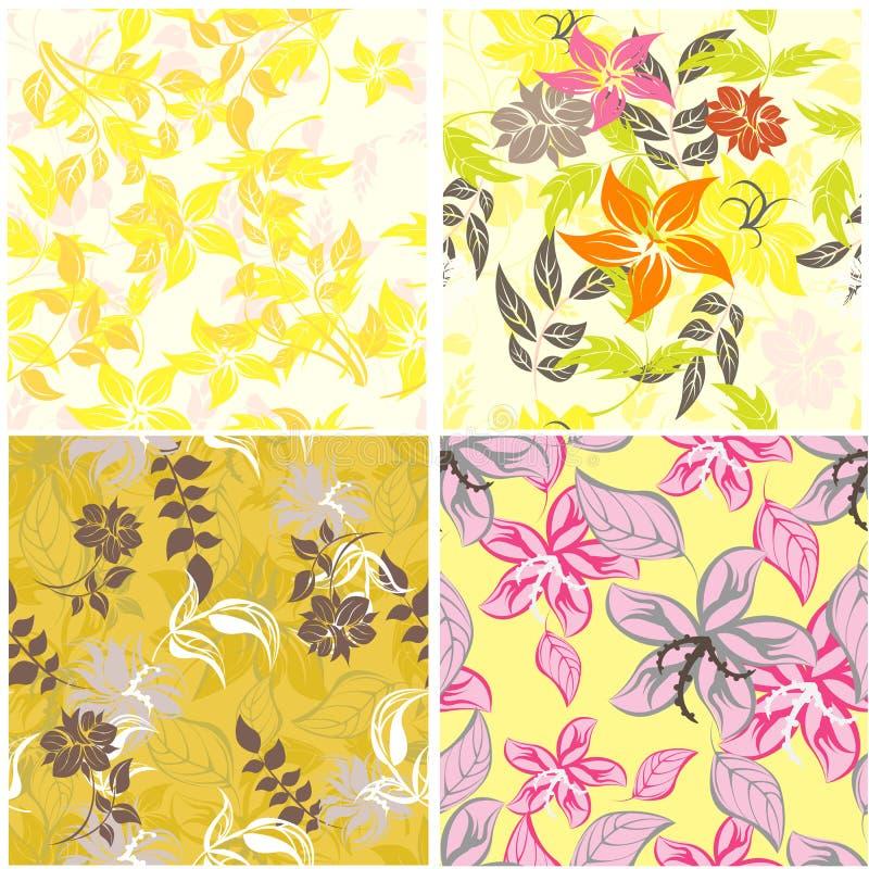 Άνευ ραφής απεικόνιση λουλουδιών ανοίξεων ελεύθερη απεικόνιση δικαιώματος