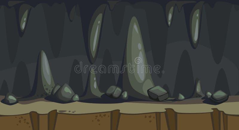 Άνευ ραφής απεικόνιση της σπηλιάς διανυσματική απεικόνιση