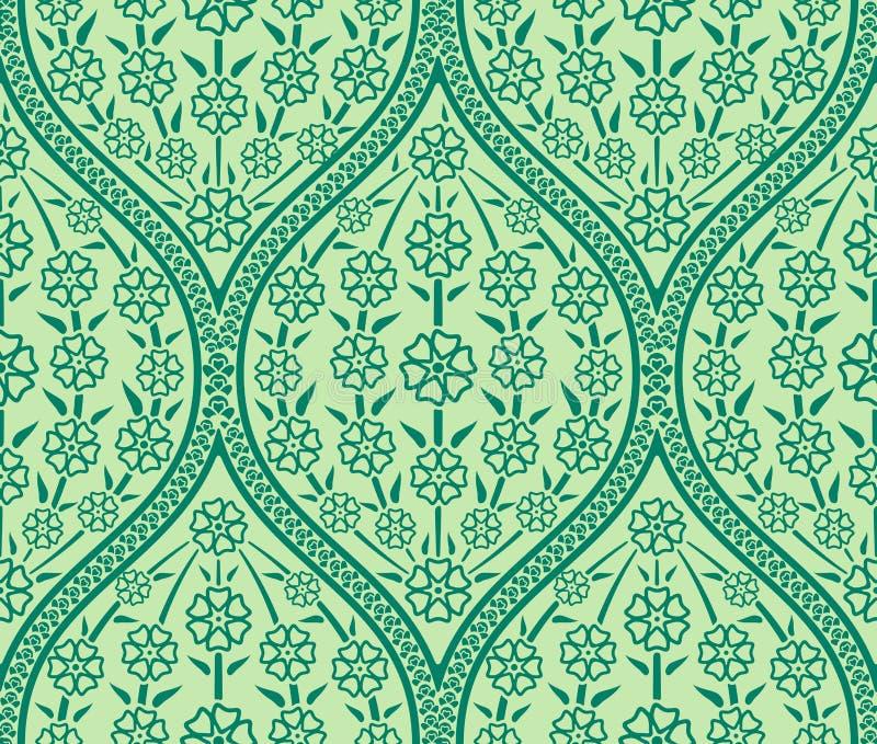Άνευ ραφής ασιατικό floral σχέδιο απεικόνιση αποθεμάτων