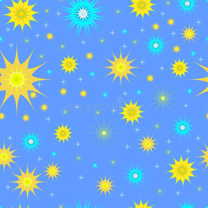 Άνευ ραφής αστέρια σχεδίων διανυσματική απεικόνιση