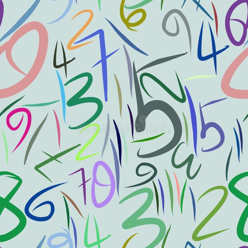Άνευ ραφής αφηρημένοι αριθμοί υποβάθρου, χέρι που σύρεται για το σχέδιο, γραφικός πόρος Έννοια, σχέδιο, ταπετσαρία & σκηνικό απεικόνιση αποθεμάτων