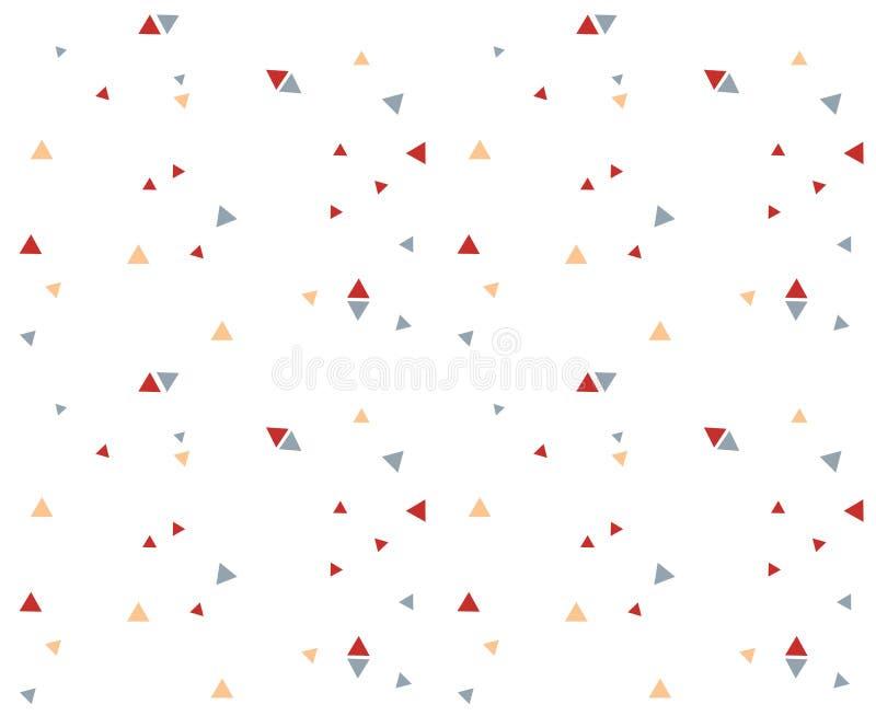 Άνευ ραφής αφηρημένο μπλε κόκκινο πορτοκαλί χρώμα σχεδίων τριγώνων geometr ελεύθερη απεικόνιση δικαιώματος