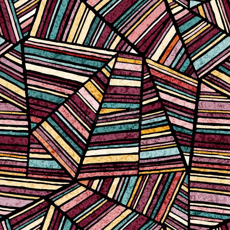 Άνευ ραφής αφηρημένο σχέδιο E Σκοτεινές πολύχρωμες πίντες που σύρονται στο ύφος προσθηκών r ελεύθερη απεικόνιση δικαιώματος