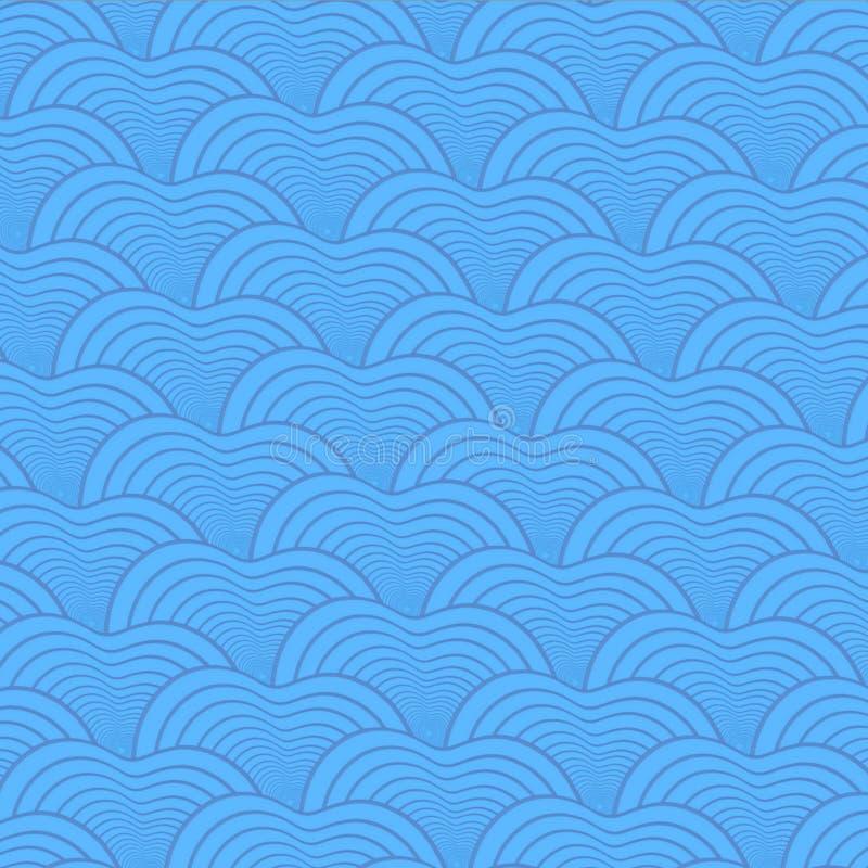 Άνευ ραφής αφηρημένο σχέδιο κλίμακας ψαριών διανυσματική απεικόνιση
