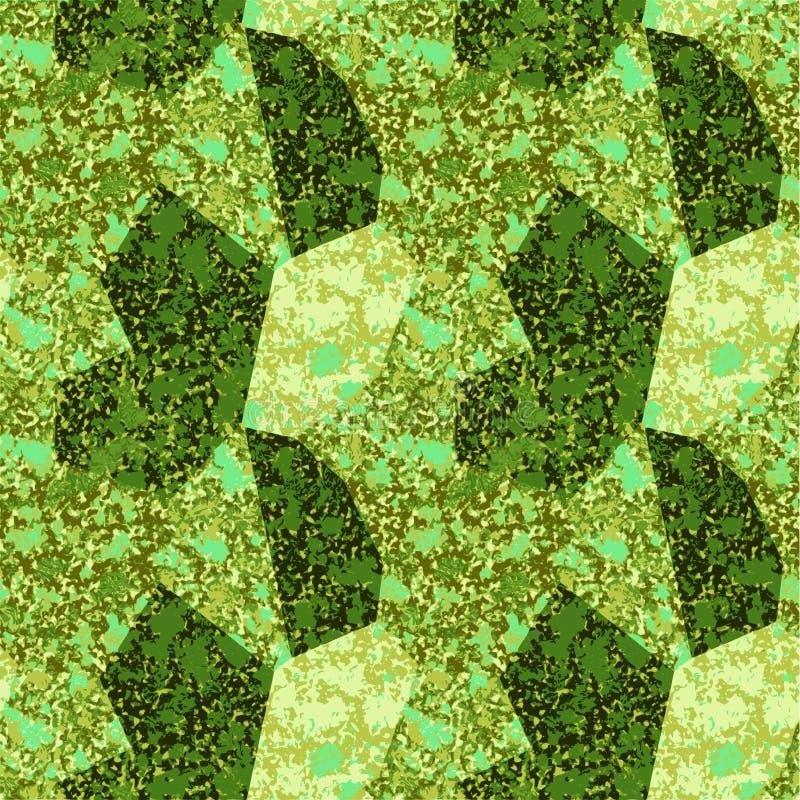 Άνευ ραφής αφηρημένο σχέδιο με την πράσινη και χρυσή μαρμάρινη δομή ελεύθερη απεικόνιση δικαιώματος