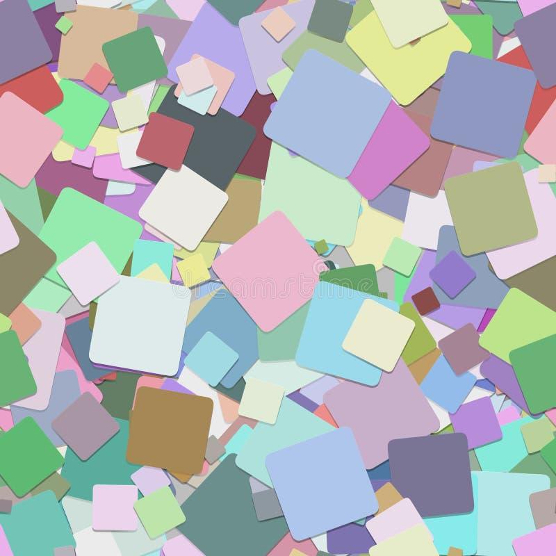 Άνευ ραφής αφηρημένο τετραγωνικό υπόβαθρο σχεδίων - διανυσματικό γραφικό σχέδιο από τα ζωηρόχρωμα τετράγωνα με την επίδραση σκιών ελεύθερη απεικόνιση δικαιώματος