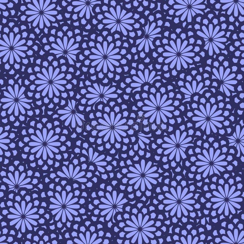 Άνευ ραφής αφηρημένο floral σχέδιο στο φωτεινό πορφυρό υπόβαθρο Ύφασμα, κλωστοϋφαντουργικό προϊόν, και σχέδιο επιφάνειας απεικόνιση αποθεμάτων