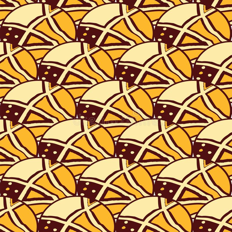 Άνευ ραφής αφρικανικό σχέδιο, λαϊκό σχέδιο Γεωμετρικός, σχέδιο απεικόνιση αποθεμάτων
