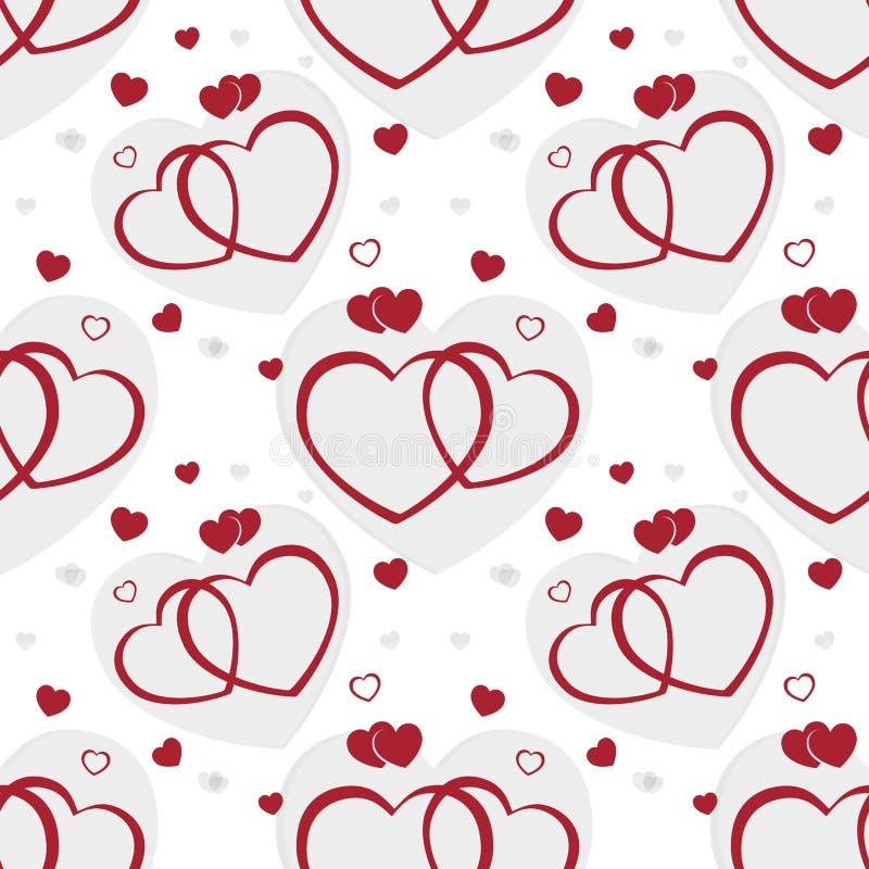 άνευ ραφής βαλεντίνος καρδιών ανασκόπησης διανυσματική απεικόνιση